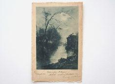 Vecchio mulino  cartolina antica Italia viaggiata di RosyOldCards