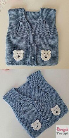 Baby Hat Knitting Pattern, Crochet Bikini Pattern, Baby Hat Patterns, Easy Knitting Patterns, Knitting Designs, Baby Knitting, Crochet Girls, Crochet Baby, Pull Bebe