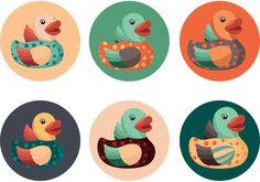 Cute Rubber Duck Vectors