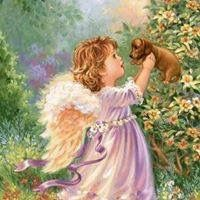 Diamond Painting Angel Girl and Dog Paint with Diamonds Art Crystal Craft Decor Angel Images, Angel Pictures, I Believe In Angels, My Guardian Angel, Angels Among Us, Sarah Kay, Angels In Heaven, Heavenly Angels, Diamond Art