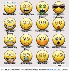 (Funny Faces) tag your friends as funny smiley faces