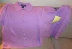 Womens New Denim & Co. 2 Piece Purple Tops size Medium. Find me at www.dandeepop.com