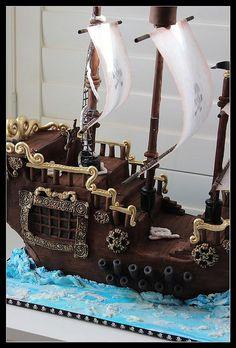 pirate ship cake   Flickr - Photo Sharing!