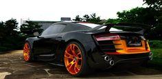 #Audi #R8 #Orange #Black #ExoticAutomotive