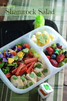 St. Patrick's Day lunch in new  Urban easy lunchboxes #easylunchboxes