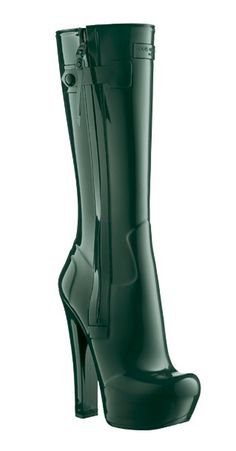 Chique rubber boots by Louis Vuitton. Thigh High Boots Heels, Black High Heels, Heeled Boots, Bootie Boots, Lv Boots, Buckle Boots, Sexy Boots, Cool Boots, Black Boots