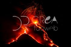 Erutpion of Volcano Etna   Download this images of an eruption of Volcano Etna,the largest active volcano in Europe Dim File: 4369 × 2913 px