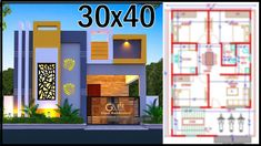 Small Modern House Plans, Modern Small House Design, Single Floor House Design, House Front Design, Front Elevation Designs, House Elevation, 30x40 House Plans, 2bhk House Plan, Bedroom Wall Designs