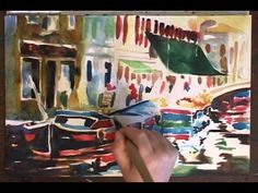 Painting Demonstration of a Grocery Boat in Venice by Jennifer Branch