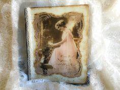 Decoupage Vintage Book Box MDF - Ντεκουπαζ Βιβλίο - Κουτί απο MDF - Diy ...
