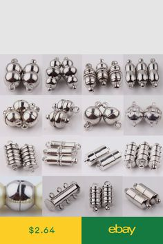 10 gold plated long magnetic clasps findings for jewellery making crafts