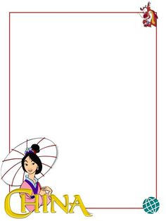 "EPCOT - China - Mulan - Project Life Journal Card - Scrapbooking. ~~~~~~~~~ Size: 3x4"" @ 300 dpi. This card is **Personal use only - NOT for sale/resale** Logos/clipart belong to Disney. ***Click through to photobucket for more versions of this card with and without characters :) ***"