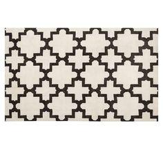 Guest Bedroom-Melia Hand-Loomed Rug - Ivory/Black | Pottery Barn
