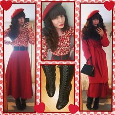 """135 Likes, 13 Comments - 🍓 Vintage Enthusiast 🍓 (@strawberry_demize) on Instagram: """"FYI... My favourite flower is a poppy!  I'm wrapped up warm and ready for an adventure!…"""""""
