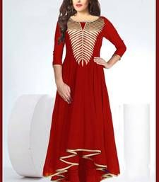 Buy New Fancy Red Designer Kurti kurtas-and-kurti online