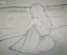 Me and my sister drew this sketch! It's quite good ya know! Me and my sister drew this sketch! It's quite good ya know! Sad Drawings, Girl Drawing Sketches, Girly Drawings, Art Drawings Sketches Simple, Pencil Art Drawings, Beautiful Drawings, Sketch Art, Sisters Drawing, Painting & Drawing