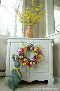 Another cute spring wreath. Would be easy to make.