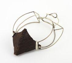 Renana Sofia - (Shenkar) alpaca & wood necklace