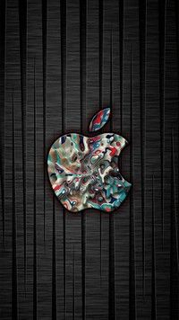 Apple in paint is a new abstract designed iPhone 7 Wallpaper