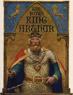 Title page (N.C. Wyeth) for The Boy's King Arthur: Sir Thomas Malory's History of King Arthur and His Knights of the Round Table, Edited for Boys by Sidney Lanier (1922)