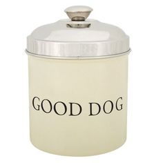 ProSelect Stainless Steel Good Dog Treat 1.8-Quart Canister, Ivory - http://www.thepuppy.org/proselect-stainless-steel-good-dog-treat-1-8-quart-canister-ivory/