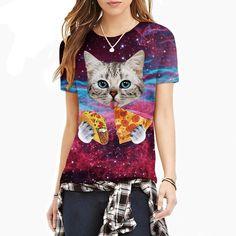 Hilarious Pizza Taco Cats T-shirt - Available at the Crazy Cat Swag shop! https://crazycatswag.com/galaxy-space-cat-3d-t-shirt/?utm_content=bufferb5572&utm_medium=social&utm_source=pinterest.com&utm_campaign=buffer  #cats #catlover #ilovecats #crazycats #instacats #catshirts #printshirts