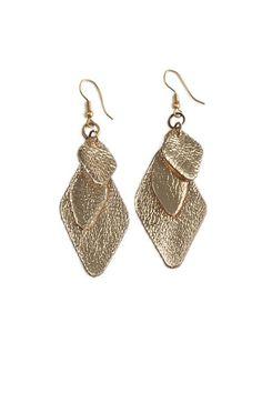 Ramsha: Geometric Leaf Earring | Fair Trade Leather Earrings | Raven + Lily