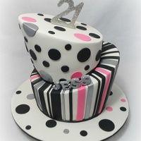 21st Topsy Turvy Cake