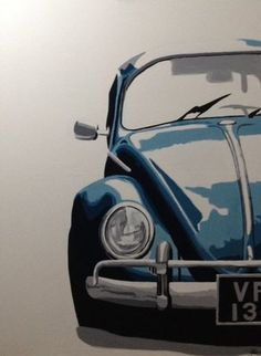'Volkswagen Beetle' Copyright by L'Artifex 70 x 100 cm Acryl on canvas More Art: www.L-Artifex.be