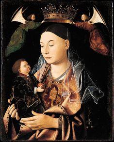 ANTONELLO DA MESSINA (1430 - 1479)    The Virgin and Child - National Gallery, London.
