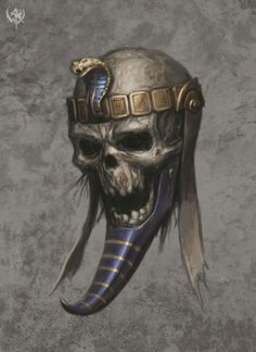 2009 Concept arts of WHO(Lands of the dead update). Skull Art, Egypt Art, Egyptian Tattoo, Tomb Kings, Art, Warhammer Fantasy Battle, Warhammer Tomb Kings, Anubis, Creature Design