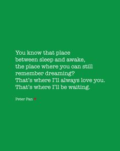 Peter Pan Love Quote Poster