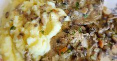 Mennyei Vajban párolt gombás karaj recept! Nagyon könnyű, egyszerű ízletes étel, vacsoraként is megállja a helyét. Mashed Potatoes, Beef, Ethnic Recipes, Food, Whipped Potatoes, Meat, Smash Potatoes, Essen, Meals
