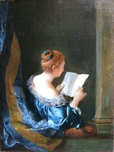 ✉ Biblio Beauties ✉ paintings of women reading letters & books - Jean-François de Troy | A Woman Reading, 1723