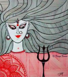 Goddess Durga #inktober  #inktober2015  #ink  #durga  #durgapuja  #day21  #art_4share  #arts_help  #arts_gallery  #arts__gallery  #talentedpeopleinc  #creativempire  #instagood  #instart  #instartist  #artwork  #art_spotlight  #illustratenow  #illustration  #lines  #maadurga #arts_4_help by doodly_life