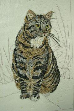 mosaic cat      #mosaic #design #art
