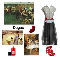 """Inspired by Degas"" by scolab ❤ liked on Polyvore featuring Elie Saab, Paul Andrew, Diana Vreeland Parfums and Rock 'N Rose"