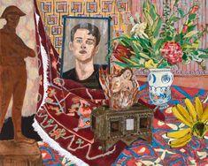 Hernan Bas at Peter Kilchmann Zürich Dandy, Art In Miami, 20th Century Painters, Contemporary Paintings, Art Techniques, Art Museum, Modern Art, Art Projects, Character Design
