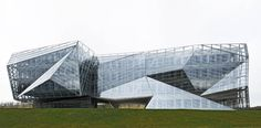 Building in Alava Technology Park in Vitoria, Spain by Coll-Barreu Arquitectos Angular Architecture, Amazing Architecture, Architecture Design, Jean Nouvel, Rem Koolhaas, Unique Buildings, Old Buildings, Zaha Hadid, Building Skin