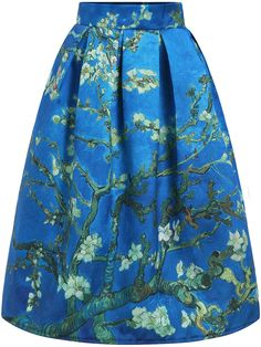 Shop Blue High Waist Branch Print Skirt online. SheIn offers Blue High Waist Branch Print Skirt & more to fit your fashionable needs.