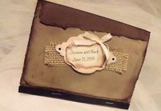 Vintage Inspired Match book wedding Invitation by cuteNtrendy, $5.35
