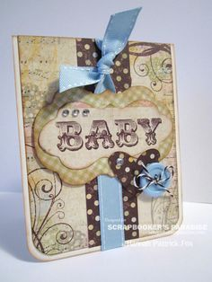 Baby Card, Cricut, great colour combo