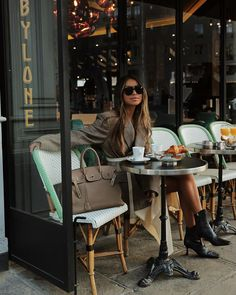 Best luxury secondhand store in Paris: BYLUXE Coffee In Paris, Balenciaga Tote, Sincerely Jules, Coffee Girl, Coffee Shop, Luxury Marketing, People Sitting, Travel Style, Cool Style