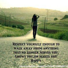 always respect yourself.