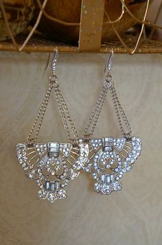 Art Deco Swarvoski #Crystal Chandelier #Earrings by VintagePinch, $56.99 Perfect #gift!!