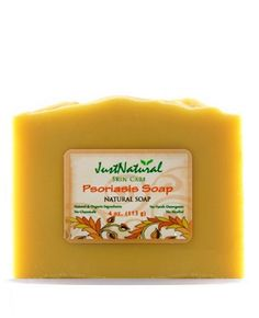 Natural Psoriasis Soap - - Helps bring relief. 	    	  Made with Rich Emollients to Soothe Itchy, Dry Skin. -   Soap is the most important part of skin care. It can improve or aggravate your psoriasis.  Simply changing to a natural soap has cleared long lasting skin problems.   This soap makes thick creamy lather to gently cleanse without damaging the skin's barrier and is mild, even for sensitive skin.