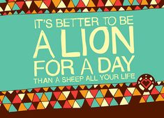 Motivational Quotes & Lions