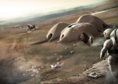 Architect Foster + Partners has been awarded first place in the first stage of a printing competition headed up by Nasa. The Nasa Printed Habitat Challenge asked entrants to use recycled . Norman Foster, Foster Architecture, Space Architecture, Biomimicry Architecture, Nasa, Mars Colony, Life In Space, Space Space, Space Colony