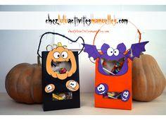 Pots à bonbons Halloween - Activités manuelles - Bricolage enfant - DIY