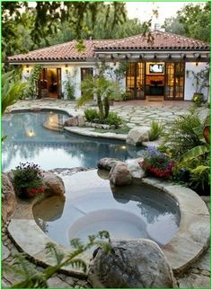 Amazing Natural Small Pools Design Ideas for Backyard . 69 Amazing Natural Small Pools Design Ideas for Backyard . Tropical Backyard, Backyard Pool Designs, Swimming Pools Backyard, Patio Design, Backyard Landscaping, Exterior Design, Pool Spa, Landscaping Ideas, Patio Ideas